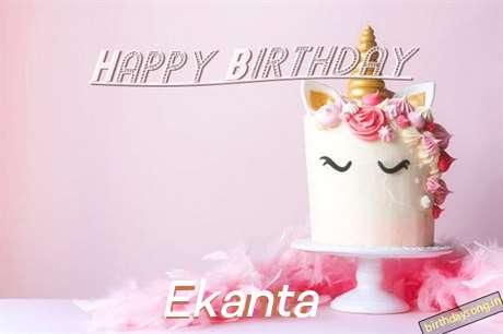 Happy Birthday Cake for Ekanta