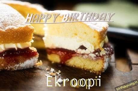 Happy Birthday Ekroopi Cake Image