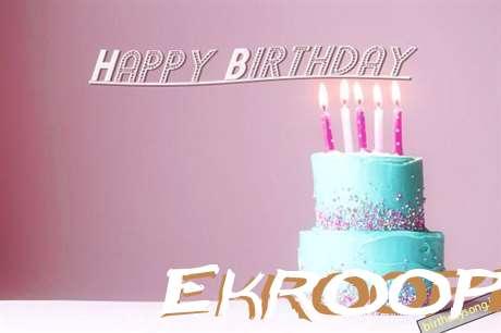 Happy Birthday Cake for Ekroopi