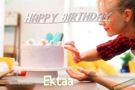 Happy Birthday Ektaa Cake Image