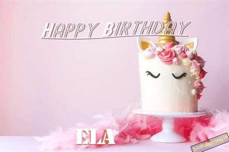 Happy Birthday Cake for Ela
