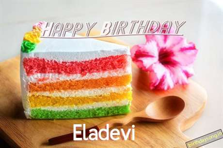 Happy Birthday Eladevi Cake Image