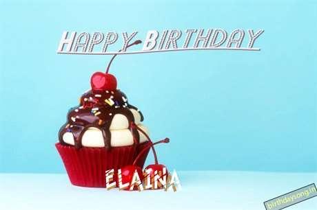 Happy Birthday Elaina Cake Image