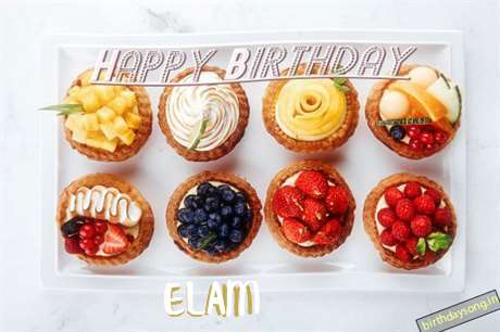 Happy Birthday Cake for Elam