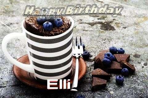 Happy Birthday Elli Cake Image