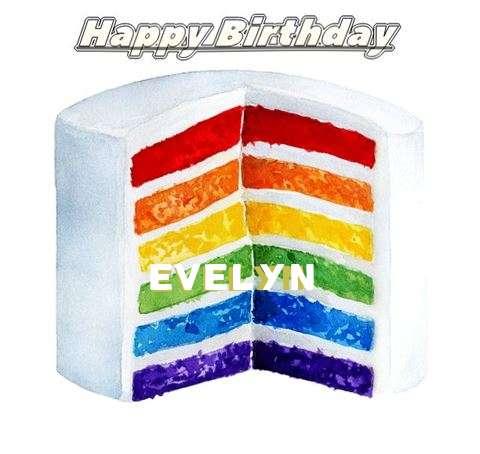 Happy Birthday Evelyn Cake Image