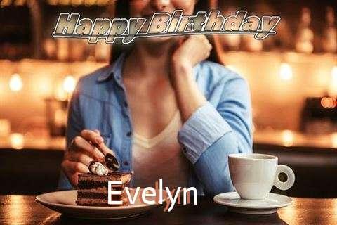 Happy Birthday Cake for Evelyn