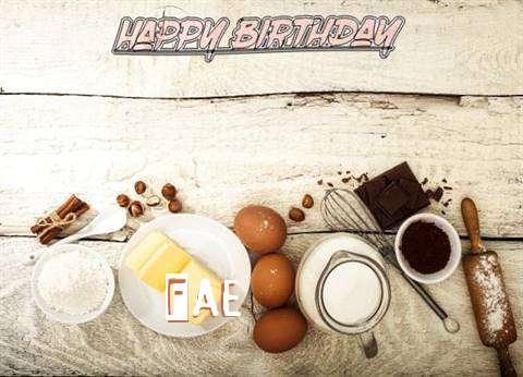 Happy Birthday Fae Cake Image