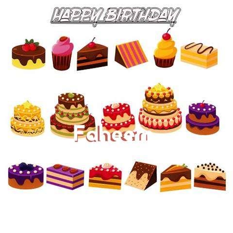 Happy Birthday Faheem Cake Image