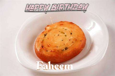 Happy Birthday Cake for Faheem