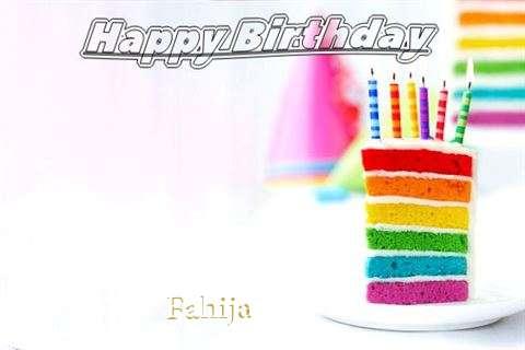 Happy Birthday Fahija Cake Image