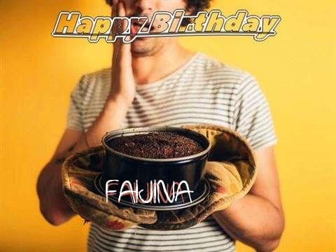 Happy Birthday Faijina Cake Image