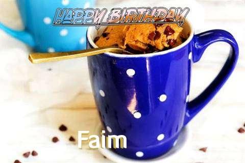Happy Birthday Wishes for Faim