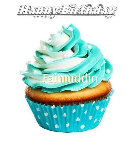 Happy Birthday Faimuddin Cake Image