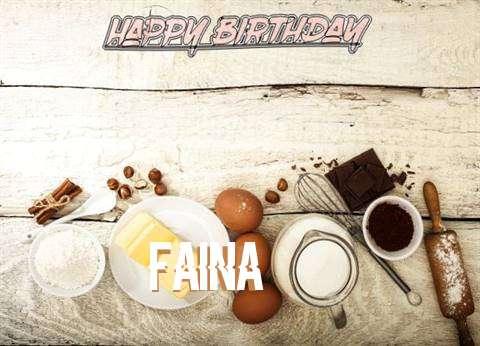 Happy Birthday Faina Cake Image