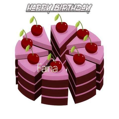 Happy Birthday Cake for Faina