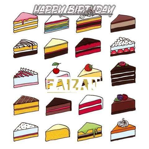 Happy Birthday Cake for Faizan