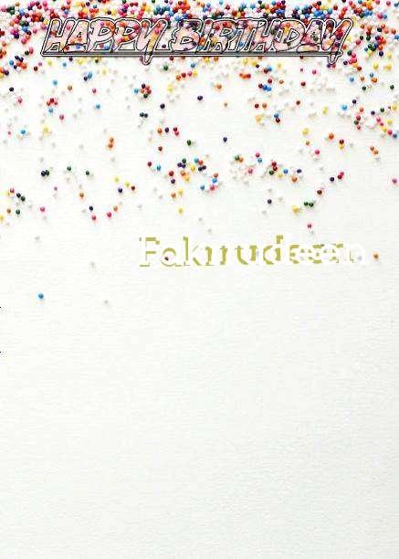 Happy Birthday Fakrrudeen