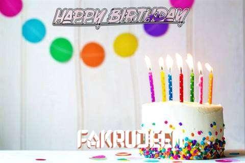 Happy Birthday Cake for Fakrudeen