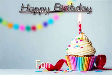 Happy Birthday Fan Cake Image