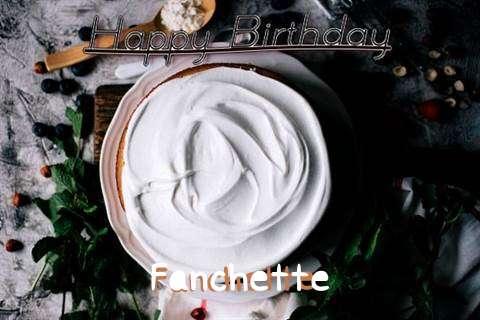 Happy Birthday Fanchette Cake Image