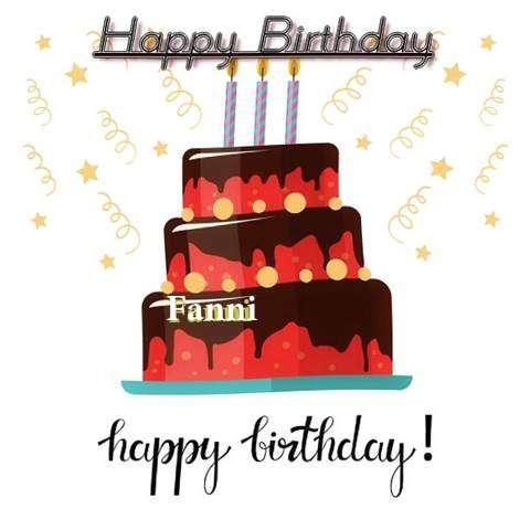 Happy Birthday Cake for Fanni
