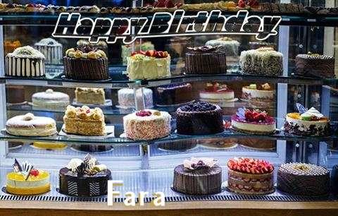 Happy Birthday Fara Cake Image