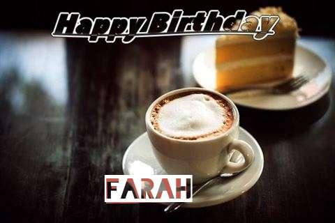 Happy Birthday Wishes for Farah