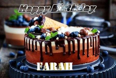 Happy Birthday Cake for Farah