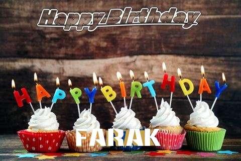 Happy Birthday Farak Cake Image