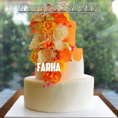 Happy Birthday Cake for Farha