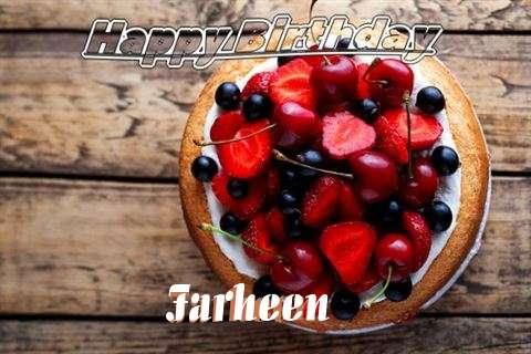 Happy Birthday Cake for Farheen