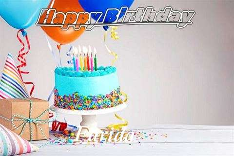 Happy Birthday Farida Cake Image