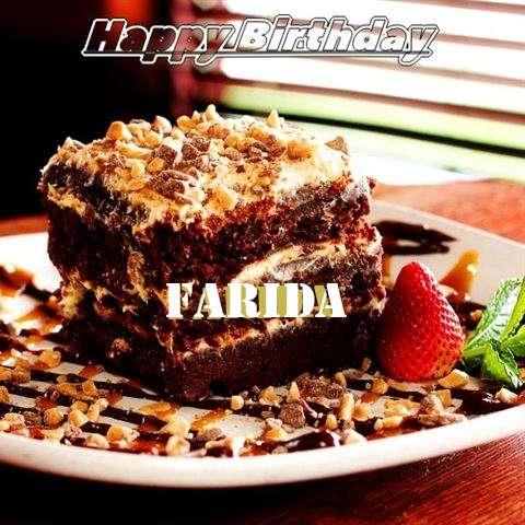 Happy Birthday Cake for Farida