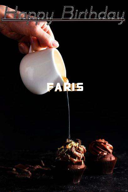 Happy Birthday Faris Cake Image