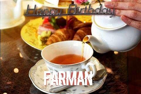 Happy Birthday Farman Cake Image