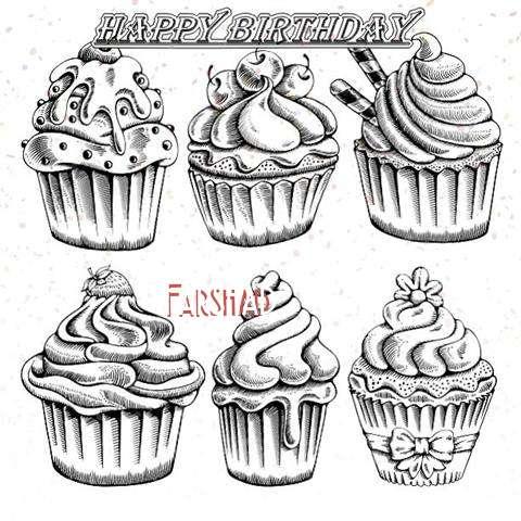 Happy Birthday Cake for Farshad