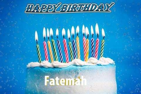 Happy Birthday Cake for Fatemah