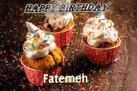 Happy Birthday Fatemeh Cake Image