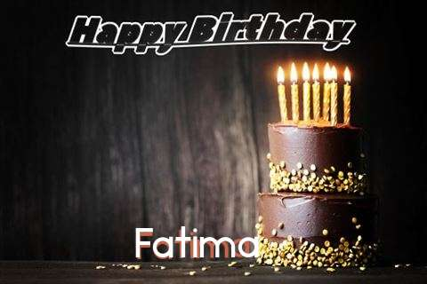 Happy Birthday Cake for Fatima