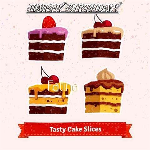 Happy Birthday Fatina Cake Image