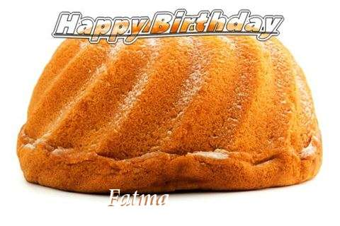 Happy Birthday Fatma Cake Image