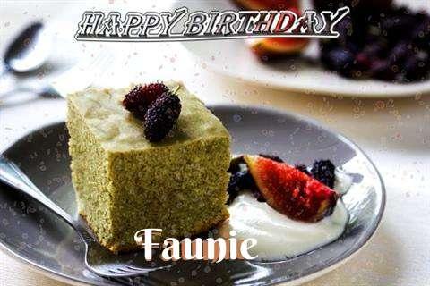Happy Birthday Faunie Cake Image