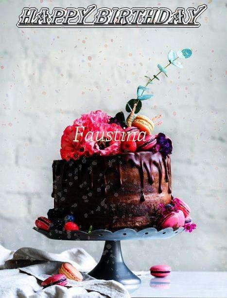 Happy Birthday Faustina Cake Image