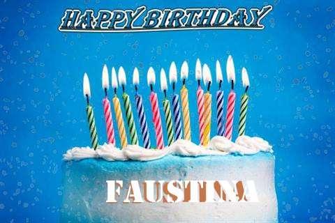 Happy Birthday Cake for Faustina