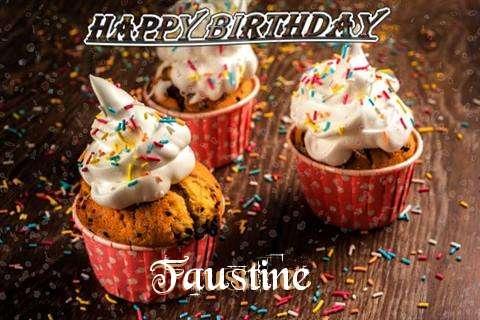 Happy Birthday Faustine Cake Image