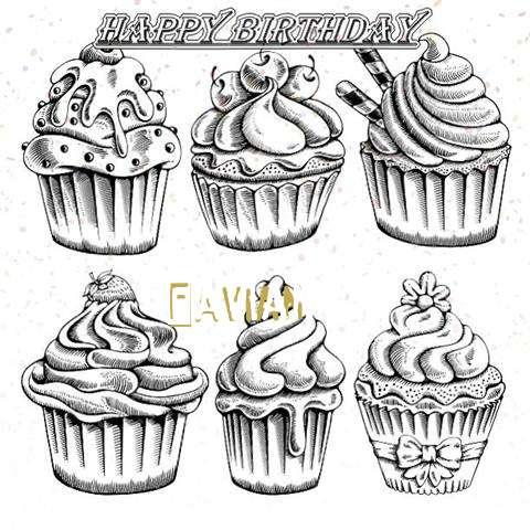Happy Birthday Cake for Favian