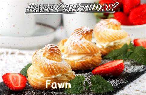 Happy Birthday Fawn Cake Image