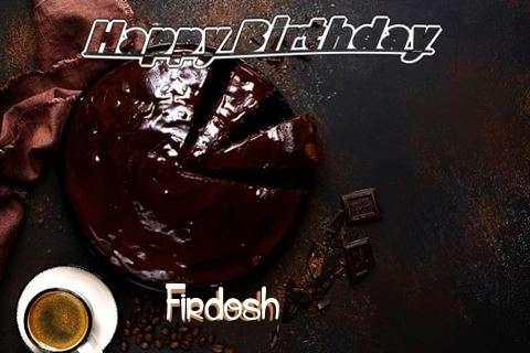 Happy Birthday Wishes for Firdosh