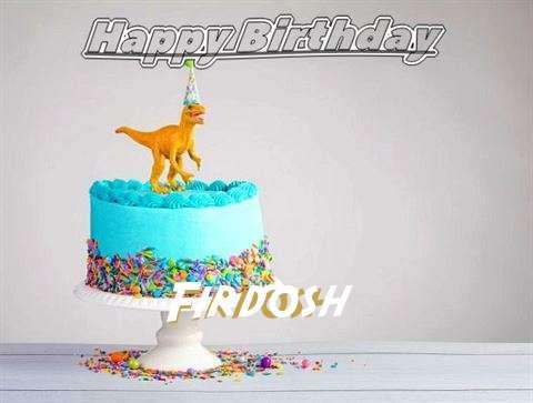 Happy Birthday Cake for Firdosh